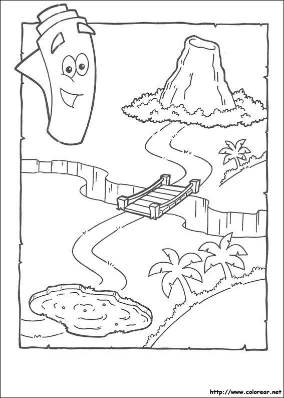 Dibujos Para Colorear De Dora La Exploradora Dora Map Explorer Birthday Party Dora The Explorer