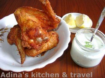 Aripi de pui Buffalo cu sos de smantana si ceapa verde - Good Food Romania