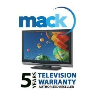 "Mack 5 Year TV Warranty - In Home - for TV's (LCD & Plasma over 32"") with a Retail Value of up to .... $210.29. This warranty is an extension of the manufacturer's normal warranty on the equipment for 5 Years from date of purchase. The TV product is guaranteed to operate properly according to manufacturer's specifications or weshall repair same to operate properly. Mack Camera's Extended Warranty is designed to provide you with additional coverage for manufacture..."