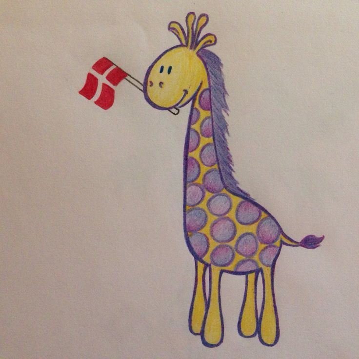 En glad giraf.