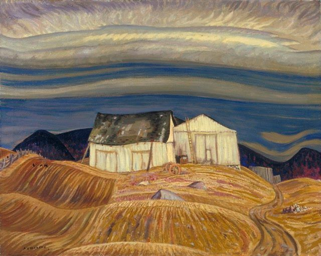 A.Y. Jackson (Canadian, Group of Seven, 1882–1974): A Quebec Farm, c. 1930. Oil on canvas, 82 x 102.3 cm. National Gallery of Canada, Ottawa. © This artwork may be protected by copyright. It is posted on the site in accordance with fair use principles.