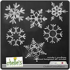 chalked snowflakes