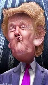 Donald Trump.  ......caricatures
