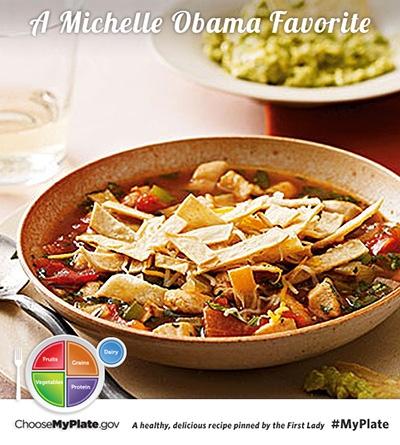 Mexican Tortilla Soup #protein #myplate #myplatebirthday