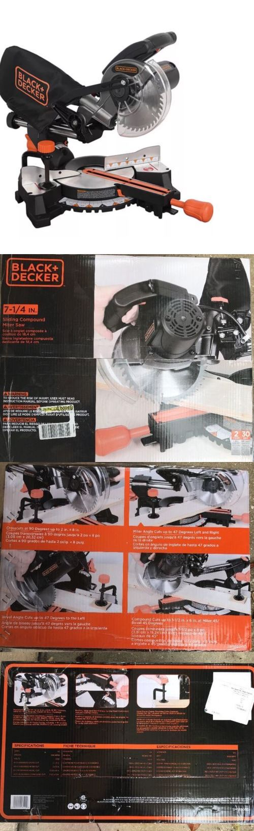 Miter and Chop Saws 20787: Black And Decker 9 Amp 7-1 4 In. Sliding Compound Miter Saw Sm1850bd New -> BUY IT NOW ONLY: $99.3 on eBay!