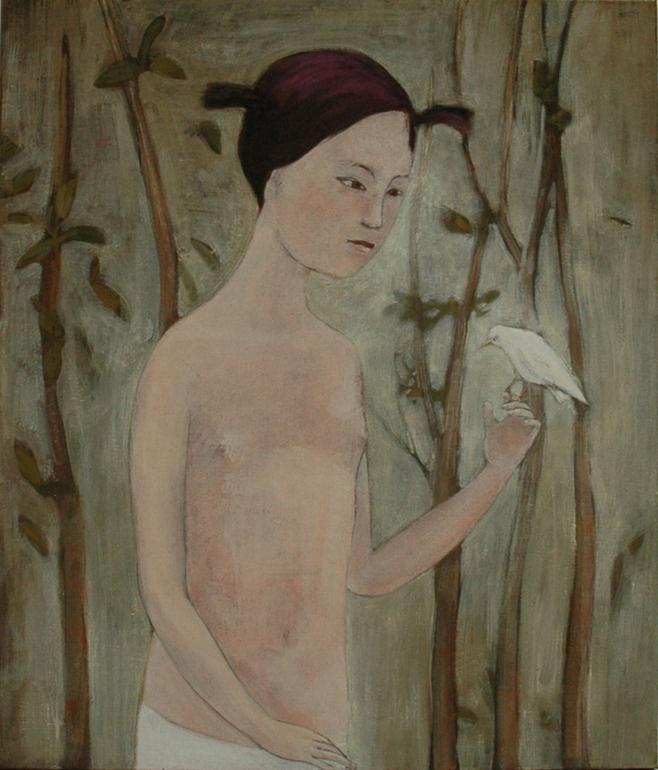 "Saatchi Online Artist: June Sira; Tempera, 2009, Painting ""Bird"""