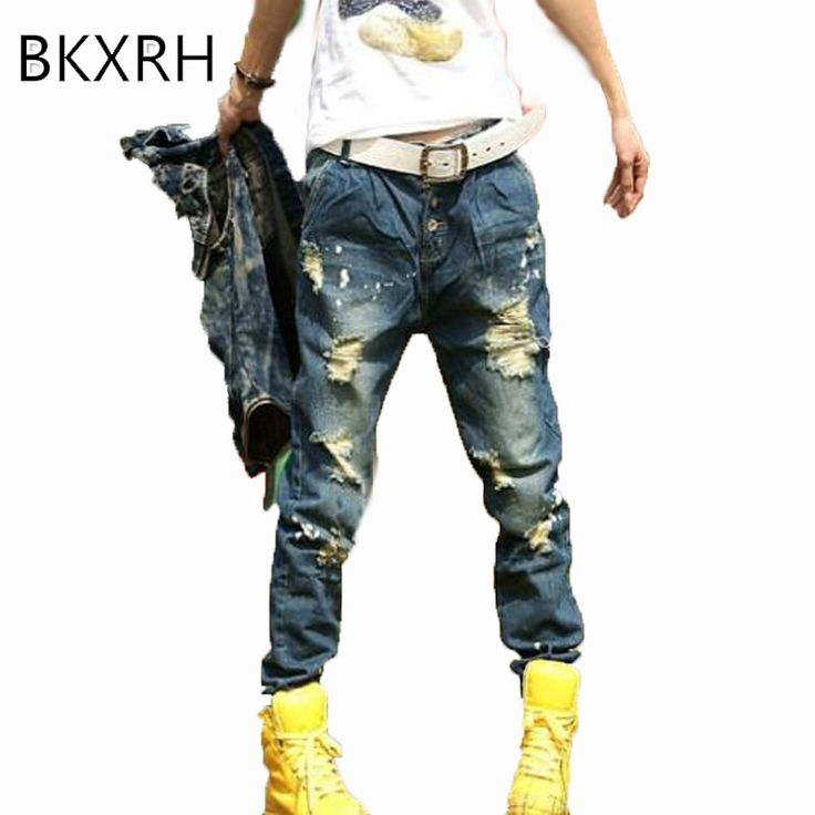 BKXRH Women Jeans Fashion Vintage femme Jean Ripped Frayed Jean femme Pantalon Stretch Women's Jeans