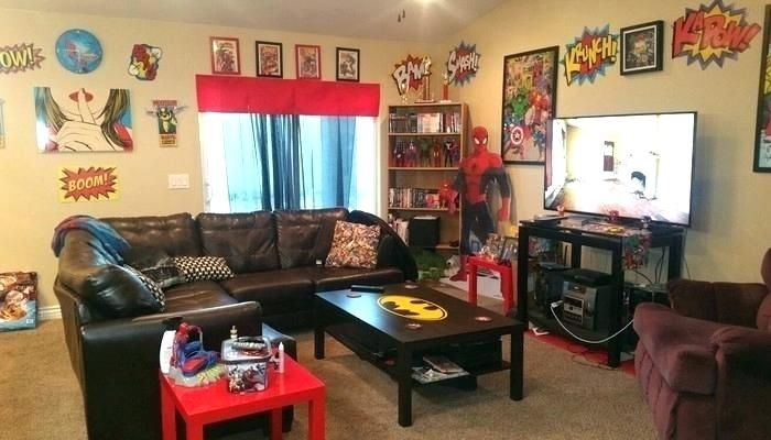 Geek Home Decor Nerd Another Shot Of Updated Superhero Living Room Nerdy Chic Geek Home Decor Decor Room