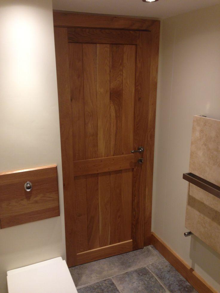 Oak Suffolk Internal Door Solid Oak Frame And Ledge Door
