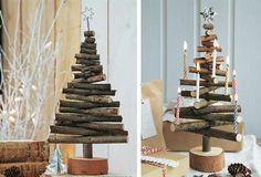 """Dieser kleine Baum entstand aus Resten – jetzt ziert er zur Adventszeit das Haus. Selbstgebasteltes kommt immer gut an: Richtet man die einzelnen """"Zweige"""" des Bäumchens versetzt übereinander aus, können noch Kerzen, kleine Weihnachtskugeln und anderer Adventsschmuck befestigt werden. Wer es glamouröser liebt, malt oder sprüht das Bäumchen weiß oder farbig an und wickelt eine kurze LED-Mini-Lichterkette um die Äste"""