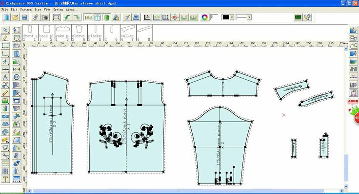 Richpeace Garment CAD Software cut the pieces by ine tool.