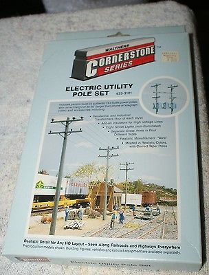 HO Scale Walthers Cornerstone Series Electric Utility Pole Set 933-3101
