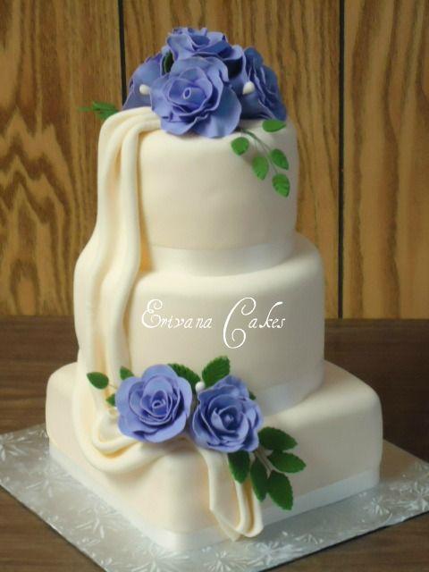 Lilac And Ivory Wedding Cake W003 From Erivanacakes