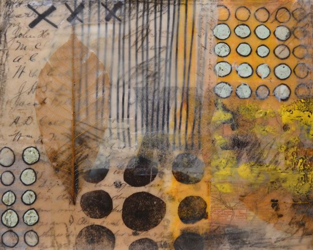 Encaustic Basics Part III-Adding Collage and Embedding Objects. Learn how to add collage and assemblage items to your encaustic art.