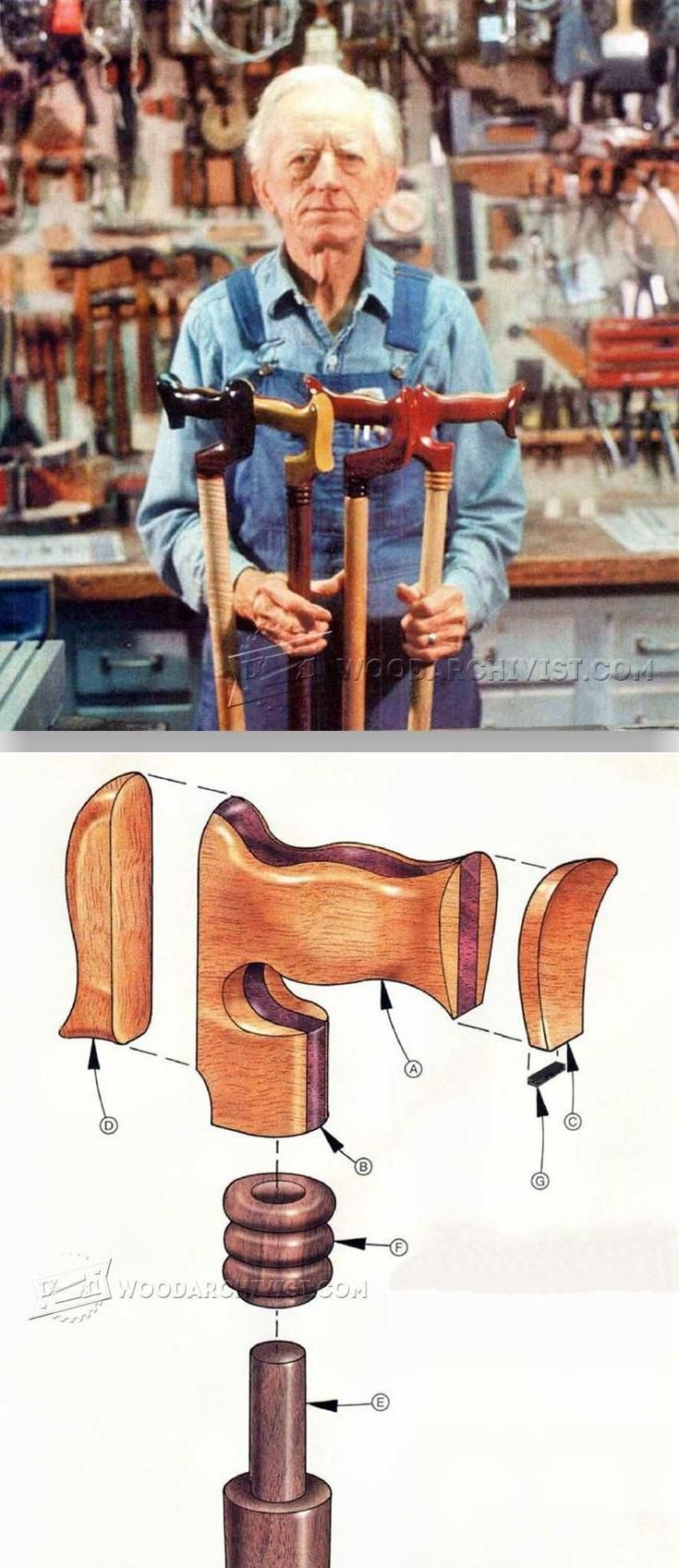 Making Walking Canes - Woodworking Plans and Projects | WoodArchivist.com