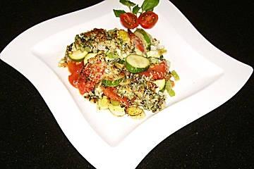 Zucchini-Tomaten-Mozzarella-Auflauf