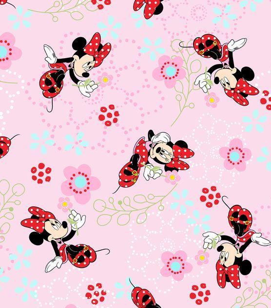 Licensed Cotton Fabric-Minnie Floral Garden