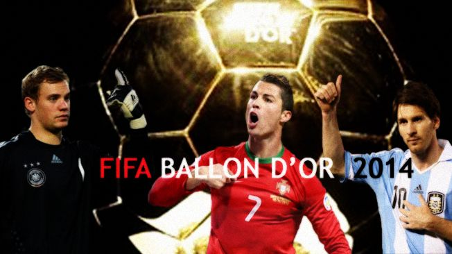 who will win FIFA Ballon d'Or 2014  1) Cristiano Ronaldo 2) Lionel Messi 3) Manuel Neur