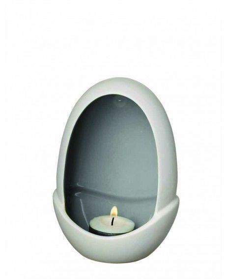 Herstal Piemonte kynttelikkö tummanharmaa 15 cm