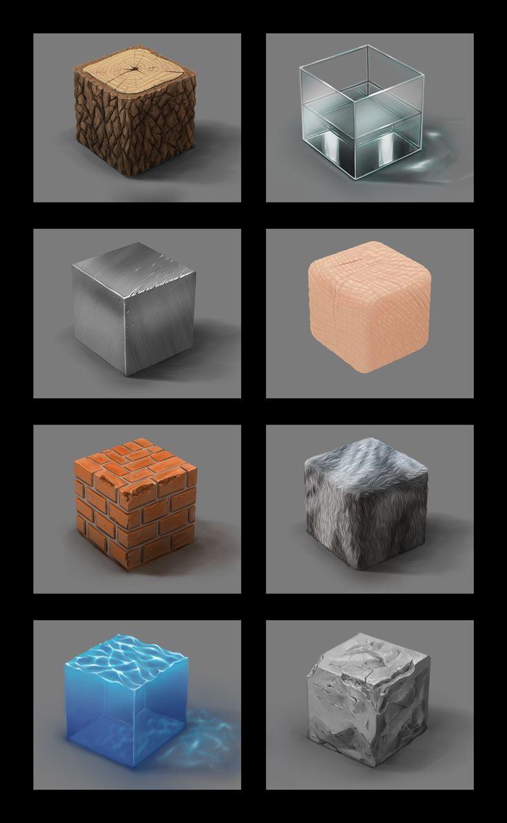 Material study by Tatsuhiro-kun.deviantart.com on @deviantART