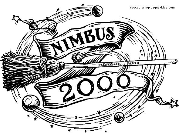 Nimbus 2000 Harry Potter color page