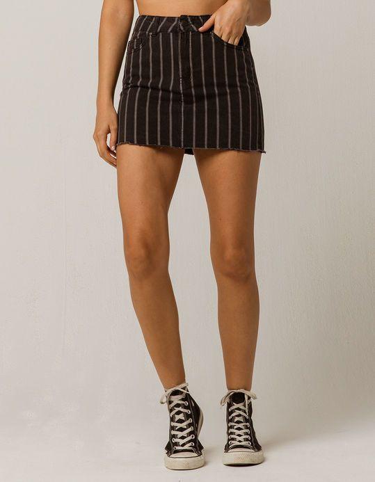 d983349a81 IVY & MAIN Black and White Striped Denim Skirt   Skirts   Denim ...