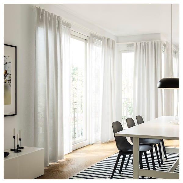tende a metro ikea in vendita in arredamento e casalinghi: Vidga Single Track Rail White 55 140 Cm Ikea Idee Ikea Appendere Le Tende Bastone Per Tende