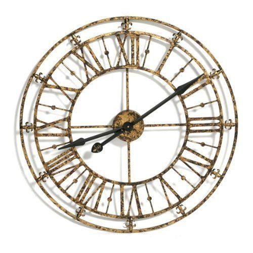 large classic u0026 unusual french iron rustic gold steeple wall clock by belle maison http