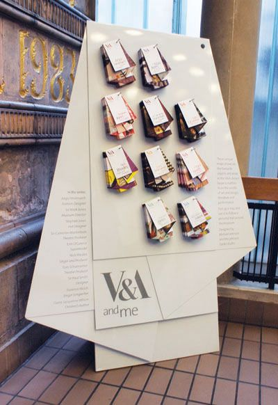 These set of 10 bespoke, uniquely folded maps of the V Museum were based on selections of designers, authors and media figures to time with the London Design Festival. By Johnson Banks UK in Sept of 2010.