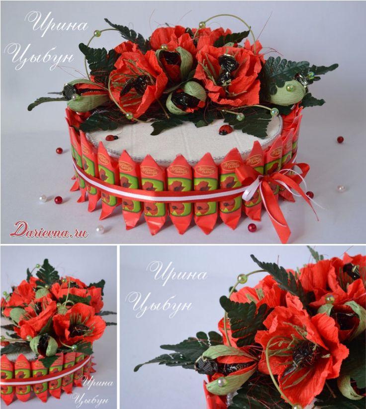 Торт из конфет от Ирины Цыбун