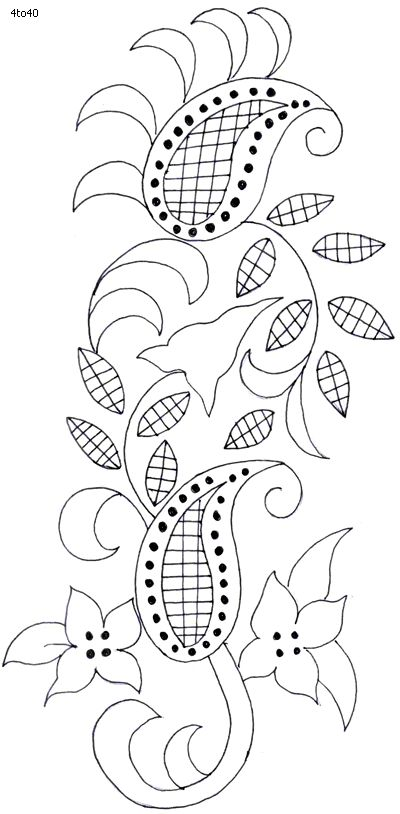 Textile Pattern, Sarika Agarwal Textile Pattern 13, Indian Motifs Dynamic Textile Patterns, Textile Guide Madhya Pradesh India