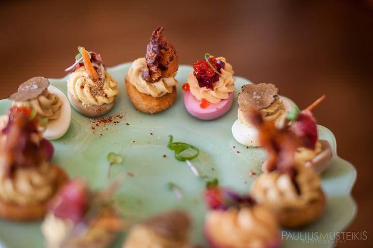 Food photography Madison WI | Heritage Tavern | Deviled Eggs #FoodPhotographerMadison #HeritageTavern #ContemporaryFood