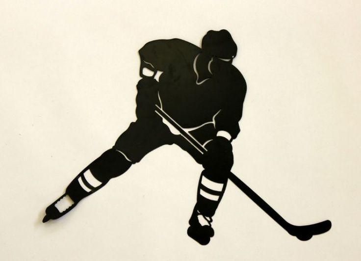 "Metal Wall Art Hockey Player 27X20.25""  SOLD OUT #964602 $39.99   www.lambertpaint.com"
