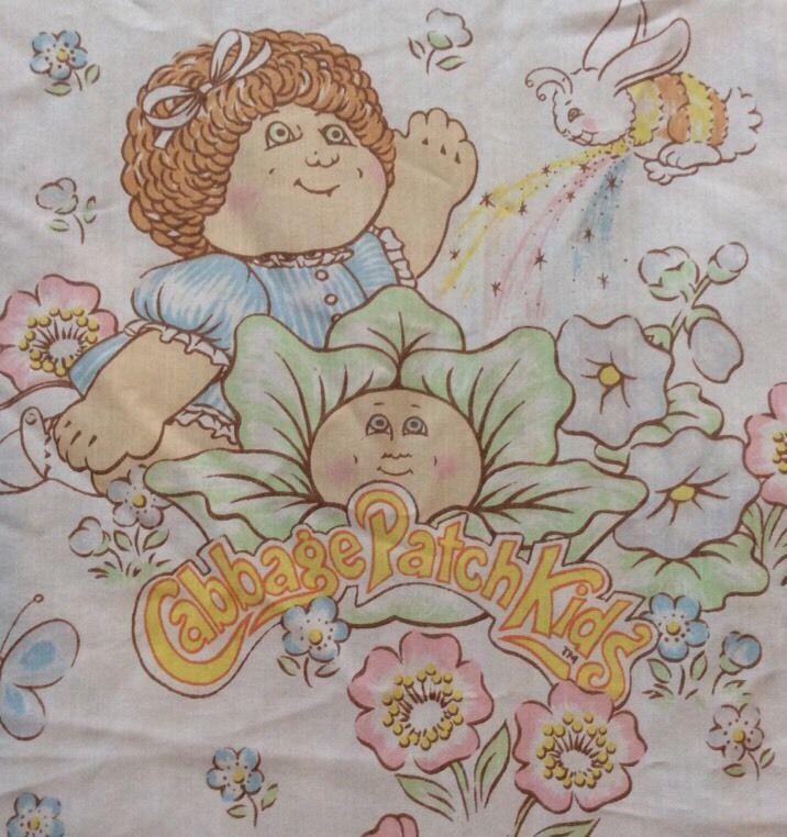 Cabbage Patch Kids Dolls Twin Flat Sheet Fabric Cutter Vtg Babies Flowers 93x67 | Home & Garden, Kids & Teens at Home, Bedding | eBay!