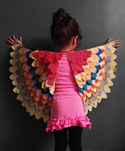 These Dress Up Wings are perfect for flying around the house. (We made some and they're a huge hit with our resident owl!) Eri from Llevo el Invierno designed the wings and shares the tutorial at Prudent Baby.