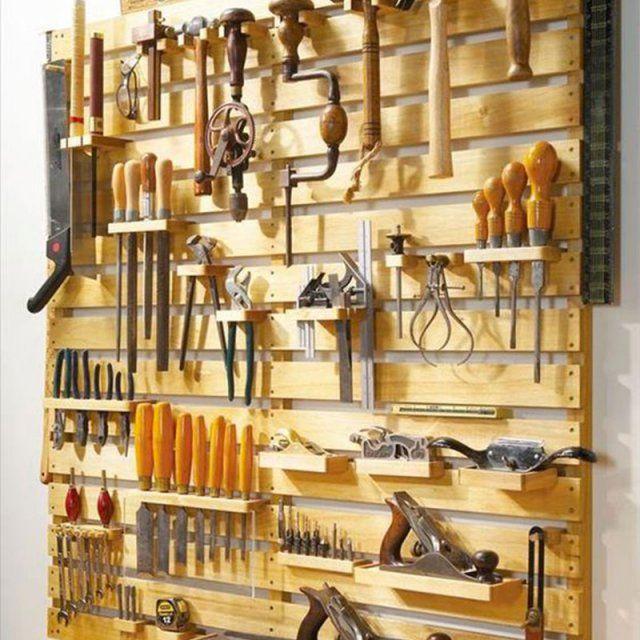 Rangement outils avec une palette