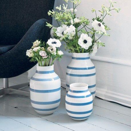 Kähler vase mellem - Lys blå