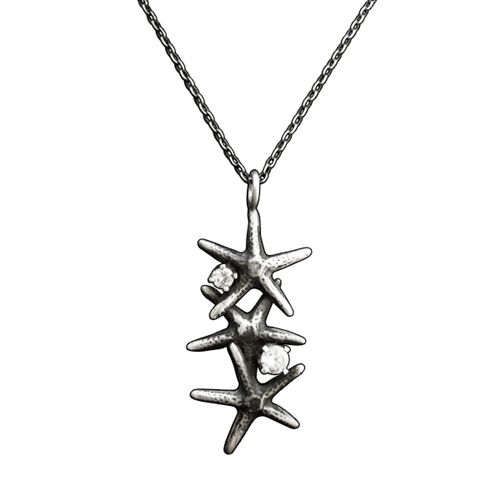 Sparkling Starfish Necklace