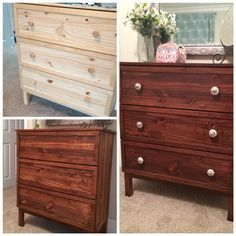 Ikea Tarva hack: Use Minwax Gel Stain to achieve more even color and a richer look