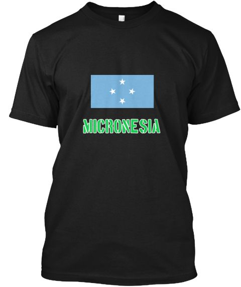 Micronesia Flag Stencil Green Design Black T-Shirt Front - This is the perfect gift for someone who loves Micronesia. Thank you for visiting my page (Related terms: I Heart Micronesia,Micronesia,Micronesian,Micronesia Travel,I Love My Country,Micronesia Flag, Micro #Micronesia, #Micronesiashirts...)