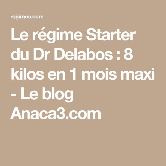 Le régime Starter du Dr Delabos : 8 kilos en 1 mois maxi - Le blog Anaca3.com