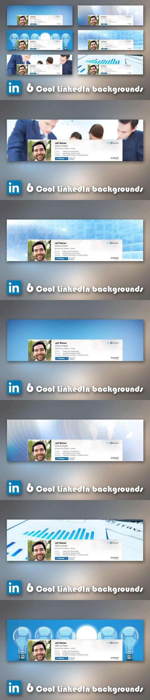 6 Cool business LinkedIn backgrounds. Social Media Templates