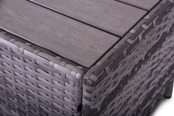 Eden Rock Collection - 4 PCS Loveseat Patio Set (Grey)