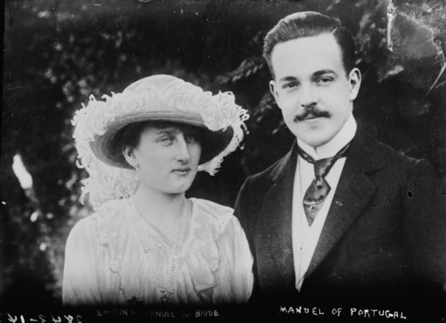 King Manuel II of Portugal and Princess Augusta Victoria of Hohenzollern, 1913
