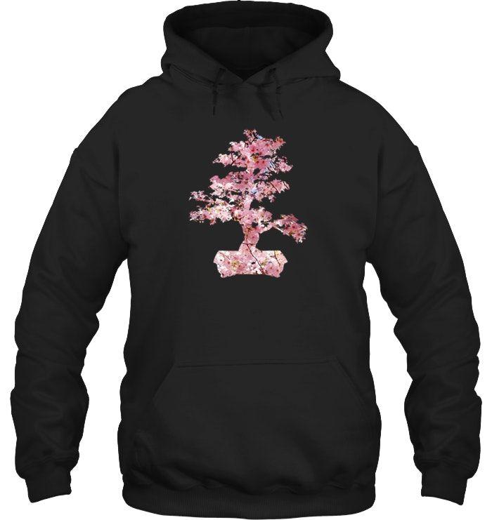 Bonsai Tree Cherry Blossom Sakura T Shirt Japanese Shirts Hoodie Shirt Hoodies Men Pullover