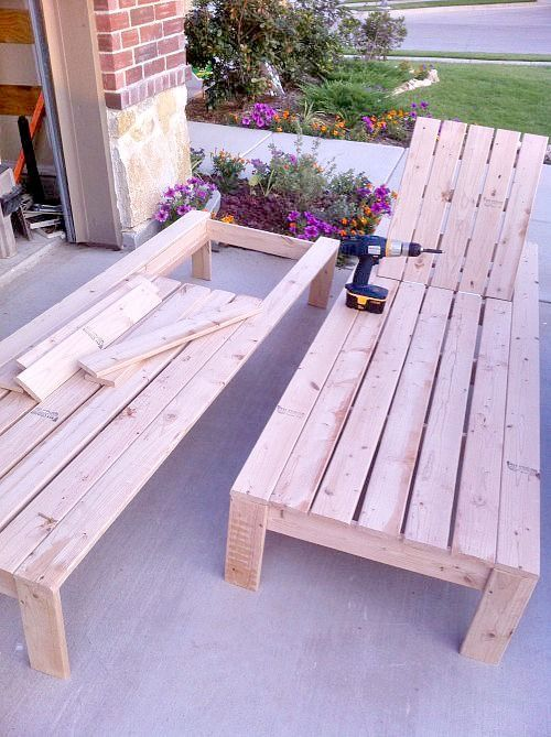 Best 25 pallet chaise lounges ideas on pinterest deck for Build chaise lounge