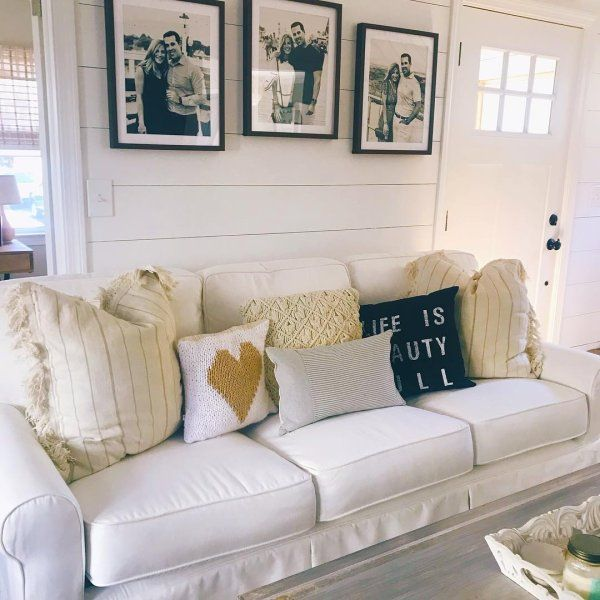 Lia Pierformance White Slipcovered Sofa Pier 1 Furniture Slipcovers Slipcovered Sofa Home Decor #pier #one #living #room