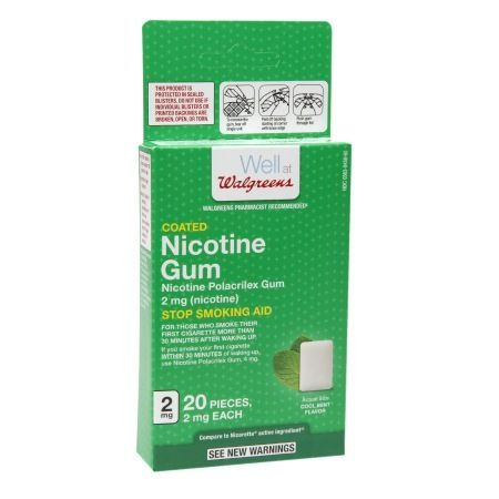 Walgreens Coated Nicotine Gum, 2mg Mint - 20 ea