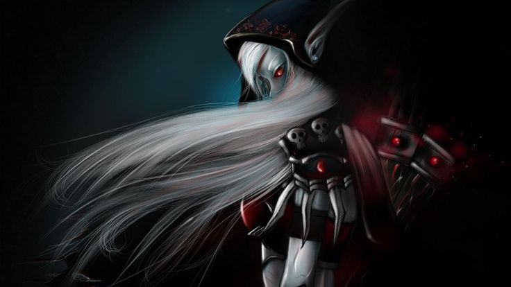 1920x1080 Wallpaper girl, elfeyka, demon, hand, hair