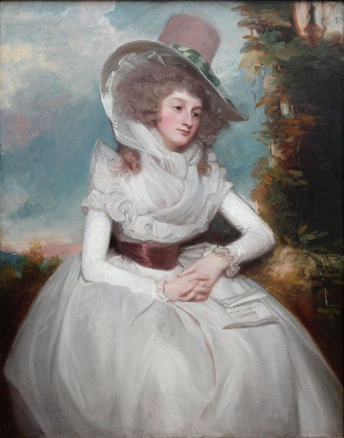 Portrait of Catherine Clemens by George Romney, 1788, England, Neue Pinakothek